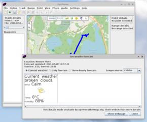 Screenshots of package gpsprune