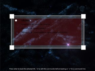 GRand Unified Bootloader, version 2 (starfield theme)
