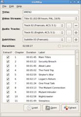 Screenshots of package ogmrip