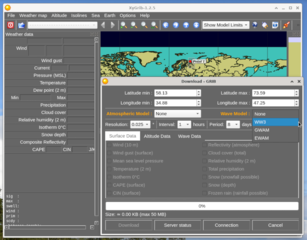 Screenshots of package xygrib