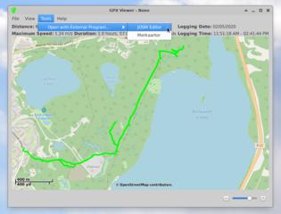 Screenshots of package gpxviewer