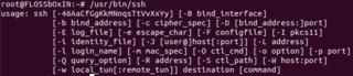 Screenshots of package openssh-server